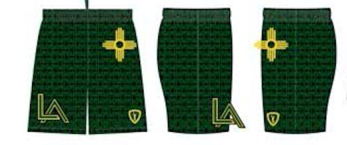 Los Alamos Lacrosse Sublimated Game Shorts